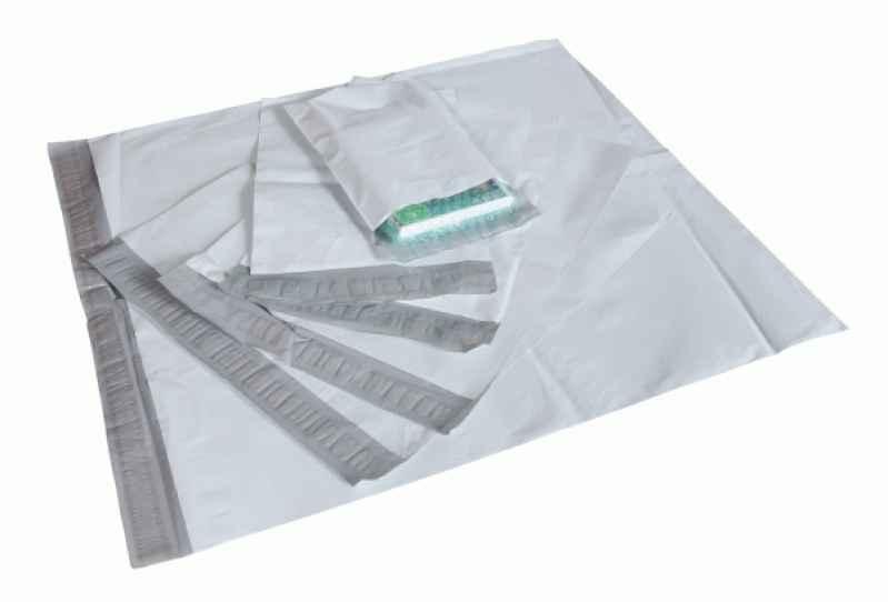 envelope adesivado de empresa plástico