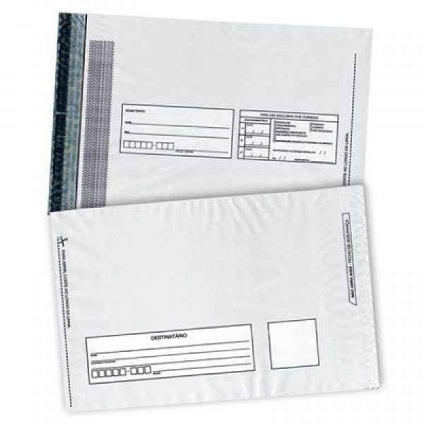 envelope com fecho de plástico