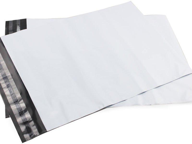 envelope de segurança inviolável de plástico branco