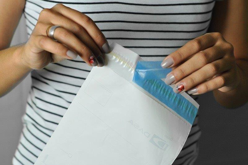 envelope de segurança plástico
