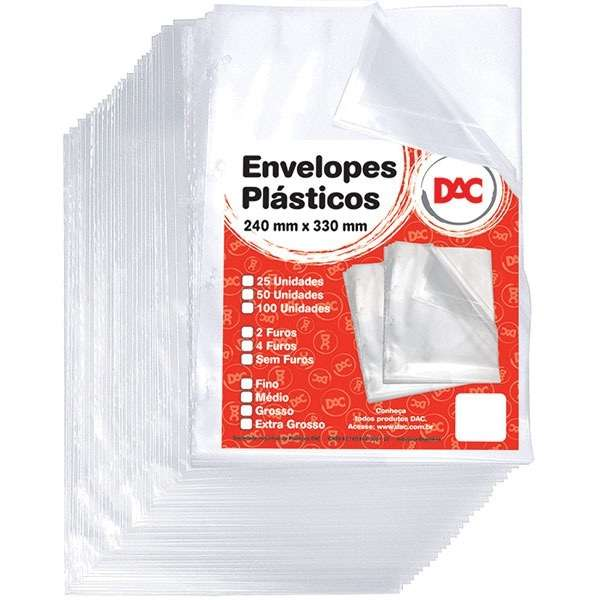 envelope plástico a4 grosso