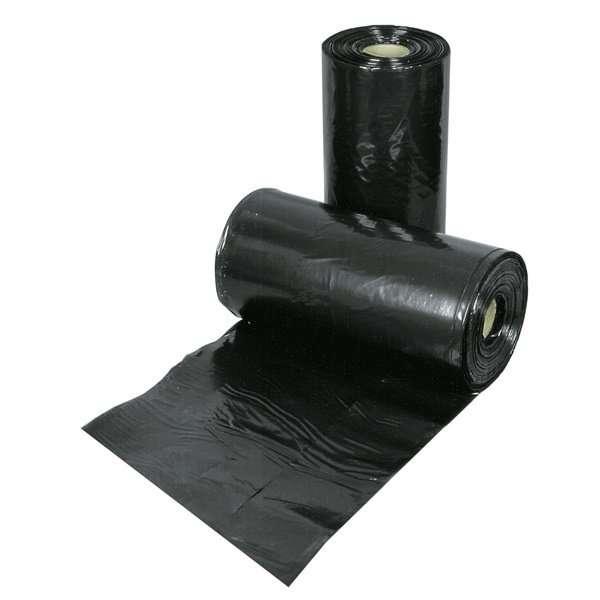 plástico preto para construção