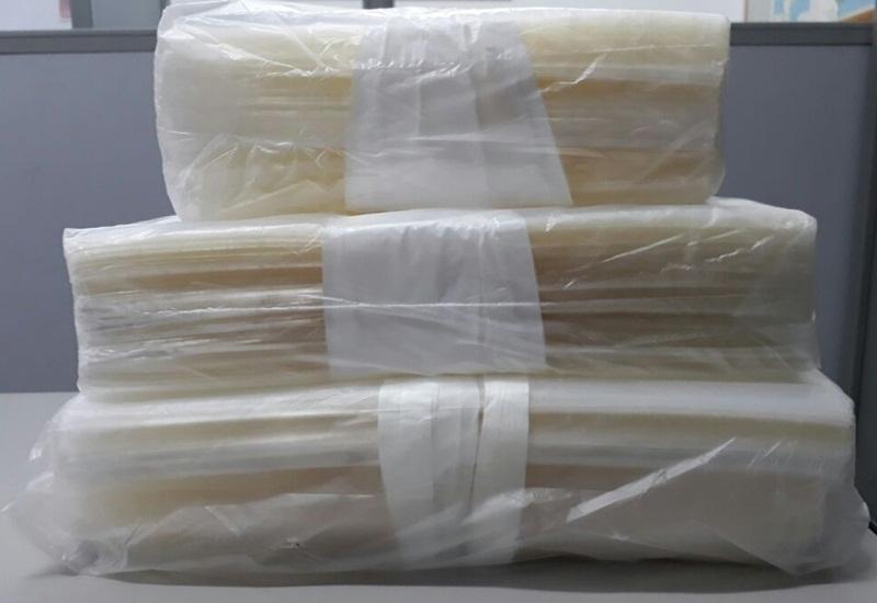 saco plástico adesivado pacote 100 peças