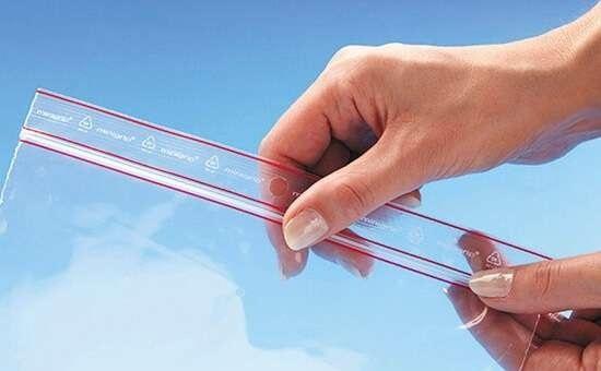 saco plástico com fecho zip