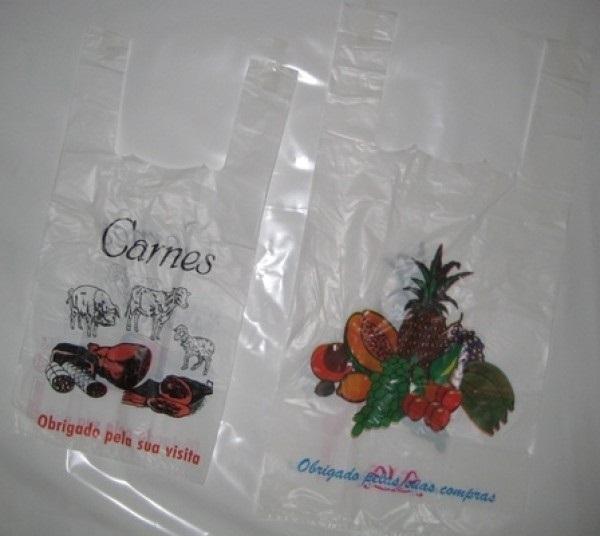 saco plástico impresso