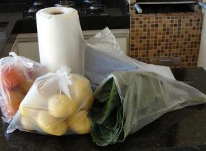 bobina de plástico para alimentos
