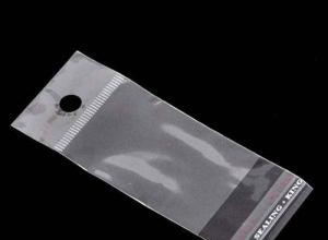 embalagem plástica solapa com furos