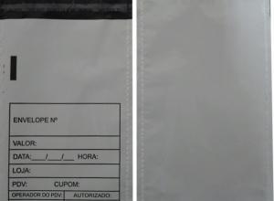 envelope de plástico sangria de caixa