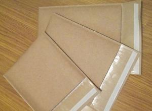 envelope pardo com plástico bolha