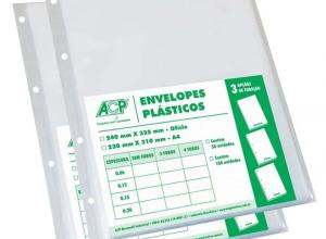 envelope plástico 4 furos