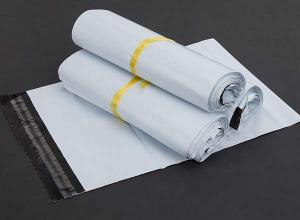 envelope plástico auto adesivo branco