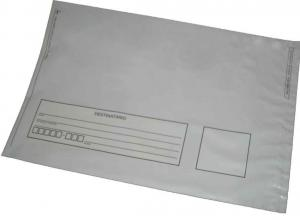 envelope plástico com adesivo dos correios