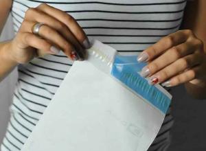 envelope plástico para exame