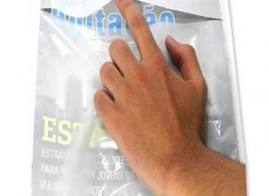 envelope plástico revista