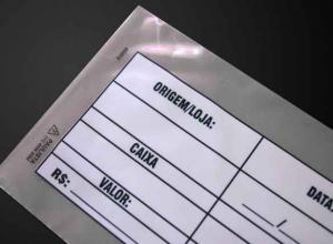 envelope plástico segurança coextrusado de sangria
