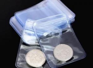 envelopes de plásticos para moeda