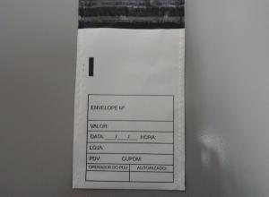 envelopes em plásticos tipo sangria