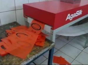 máquina de sacolas plásticas