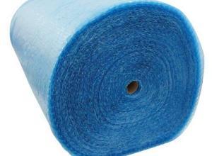 plástico bolha azul