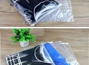 saco em plásticos zip lock de roupas