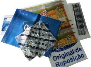 saco impresso plástico pe