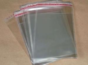 saco plástico com aba colante