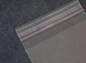 saco plástico com adesivo