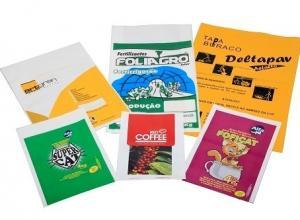 saco plástico impresso para alimento