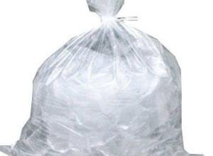 saco plástico transparente grande
