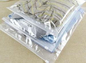 saco plástico transparente para roupas