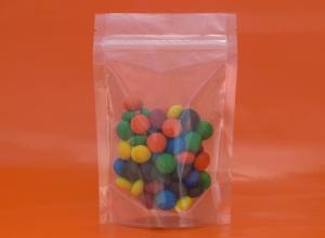 saco plástico transparentes com fecho zip
