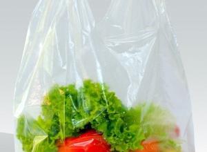 sacola plástica transparente