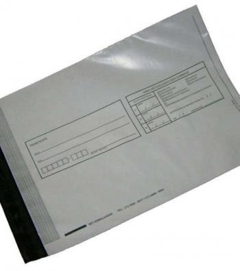 envelope personalizado com adesivos feito em plástico