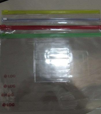 envelope plástico com zíper