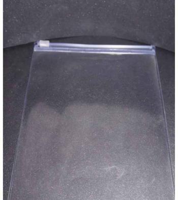 envelope plástico zíper